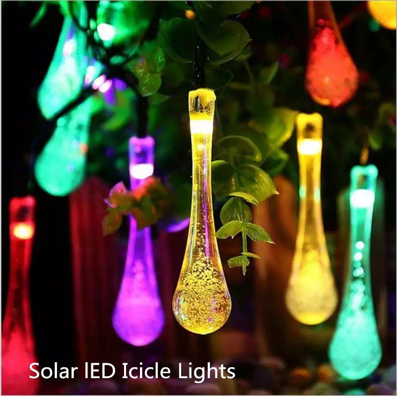 Solar String Light, LED Icicle Lights Solar