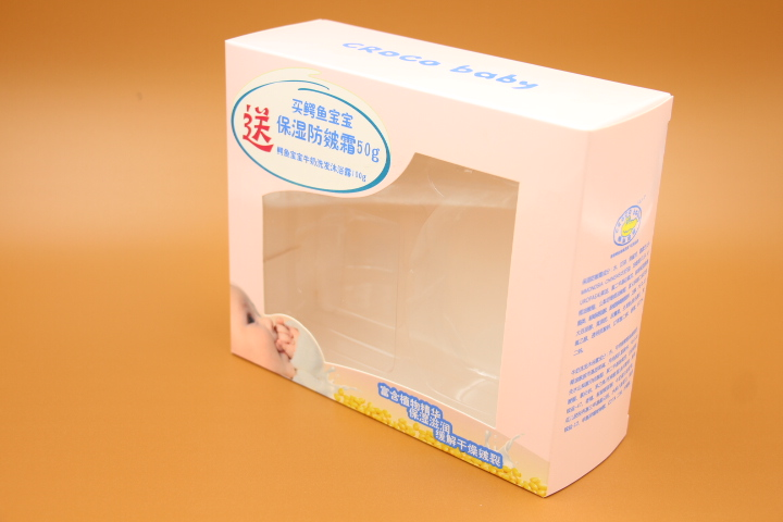 Paper box with clear window