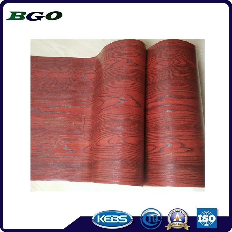 Decorative Foil Mahogany Wood Grain Furniture Foil