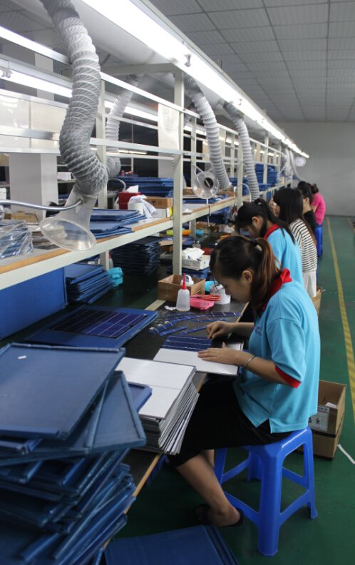 PET laminated solar panels production line