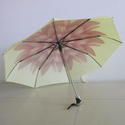Sunflower cover auto open and close umbrella with water-proof fabric
