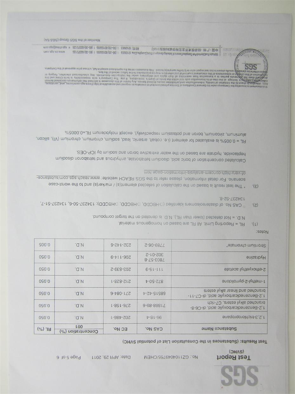 Environmental Testing report