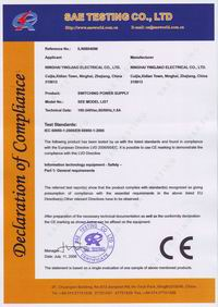 CE certificate for 60W