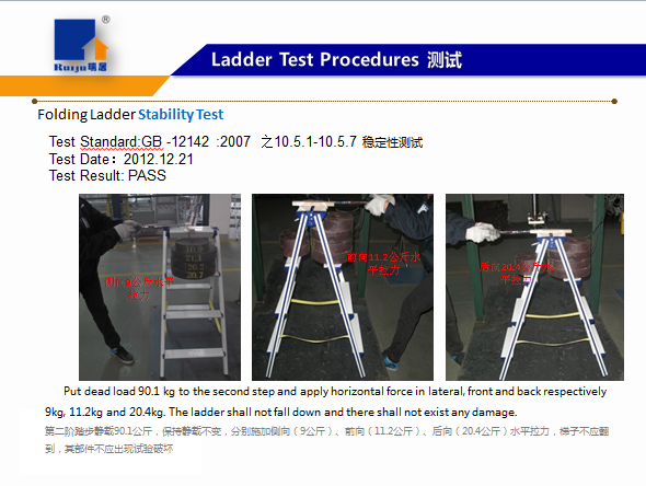 Ladder Stability Test