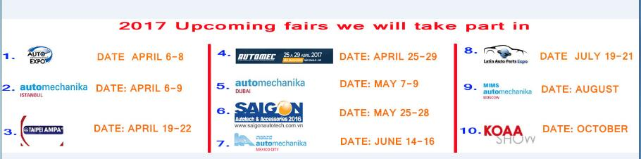 2017 upcoming fair we will take part in