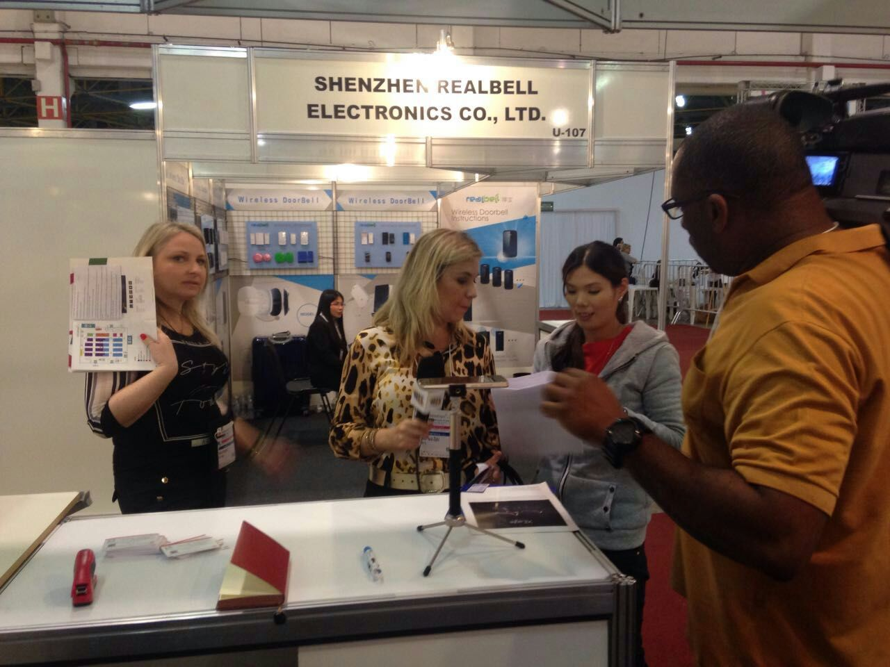 TV Stattion visited our booth in Braizil