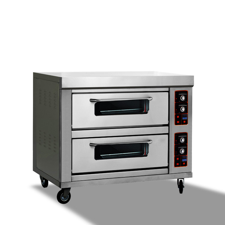 double-layer four-tray gas ovens