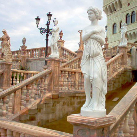Italian sculpture for hotel carved from nature marble