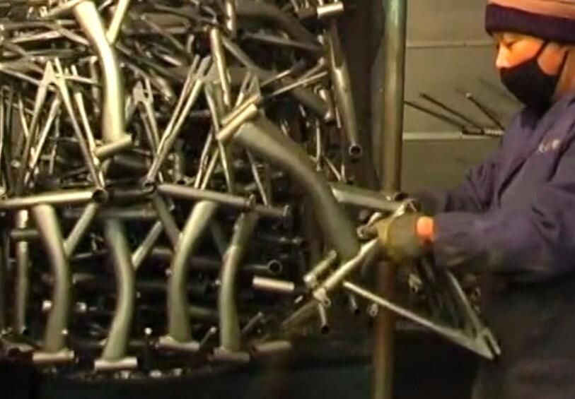 checking bike frame and fork