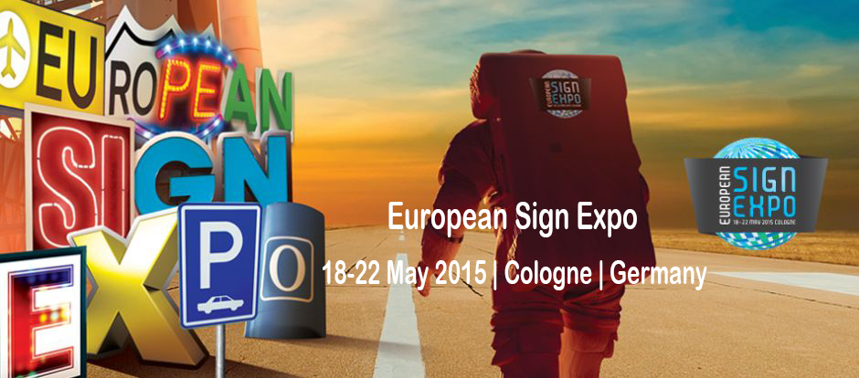 We'll attend the European Sign Expo 2015