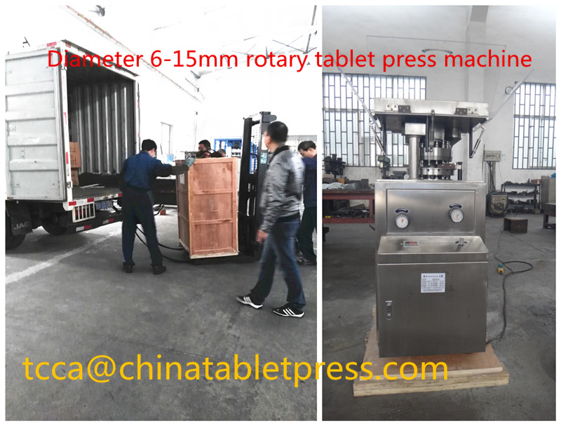 6-15mm diameter rotary tablet press machine shipped to spain again