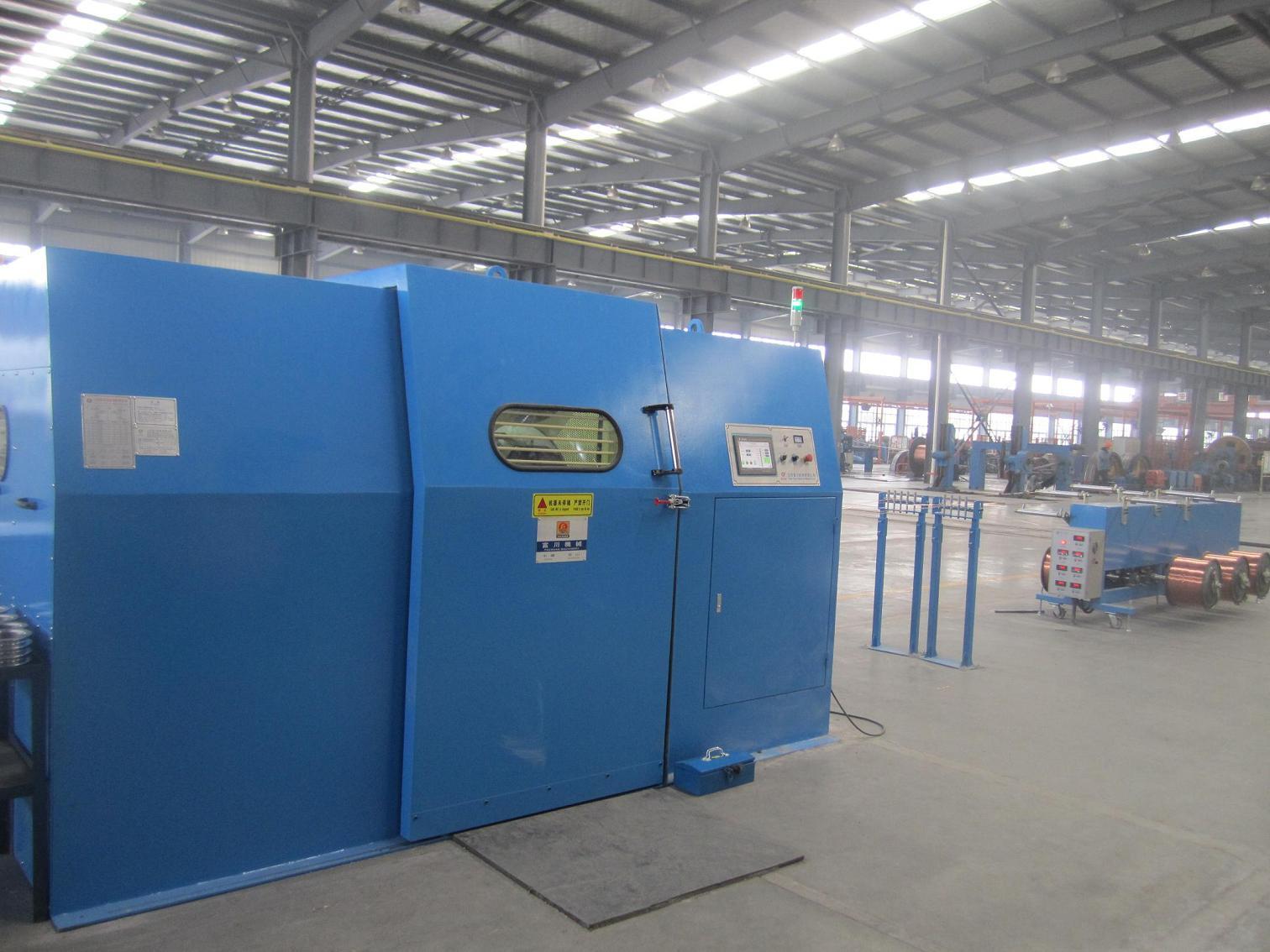 1250bobbin bare copper wire twisting machine