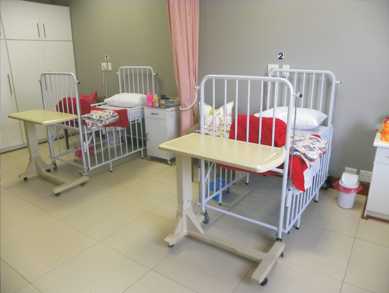 Child bed in hospital bed