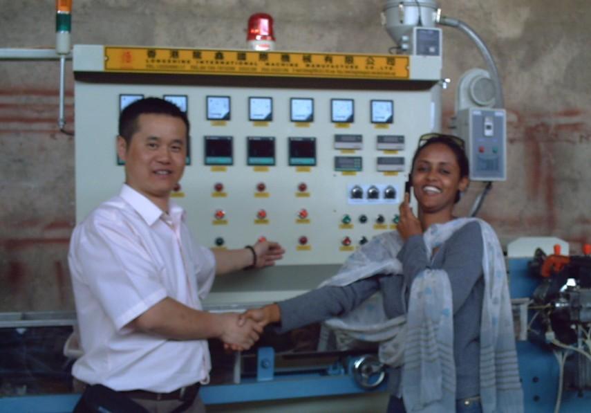 Ethiopia negotiate wire extruding equipment.