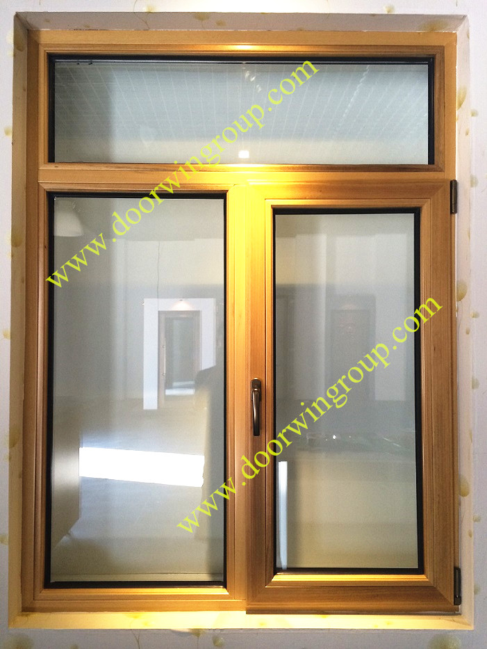 Teak Wood Aluminium Window
