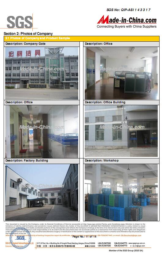 SGS Certification Report of Factory