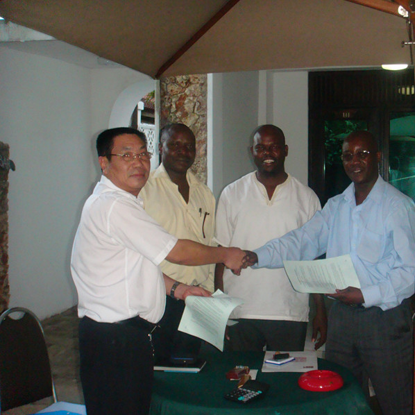Tanzania client signing ceremony