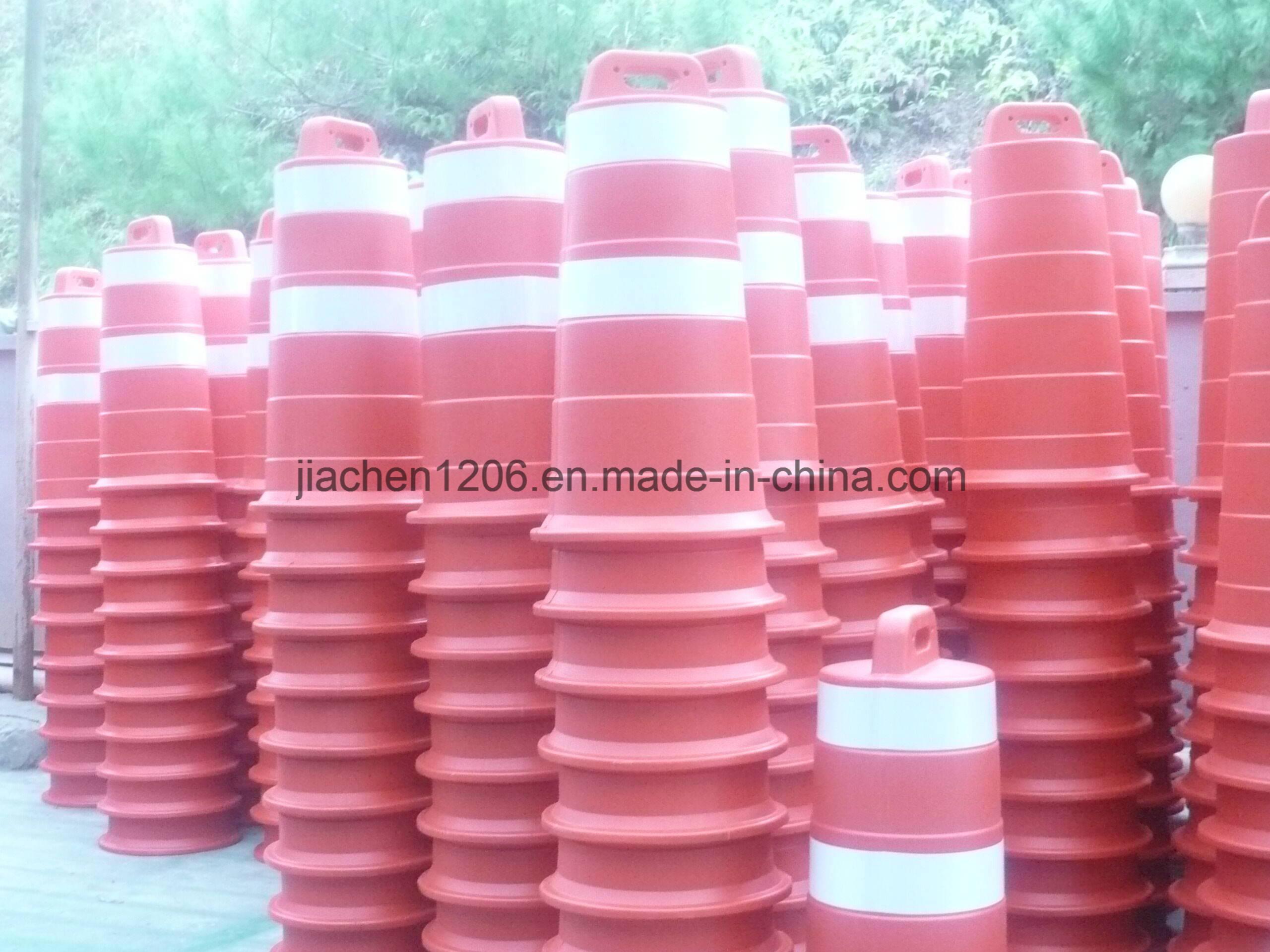 Plastic traffic drum