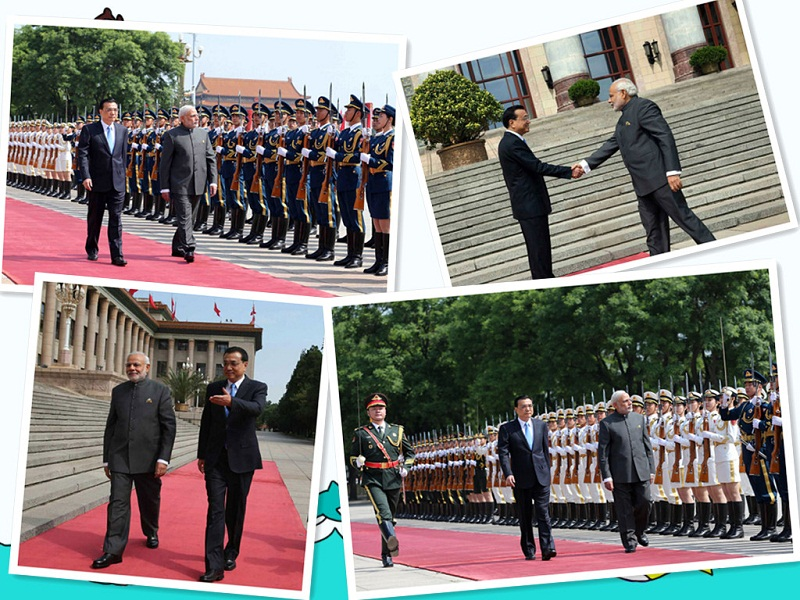Li held a ceremony to welcome India's prime minister, Mr Modi's visit to China