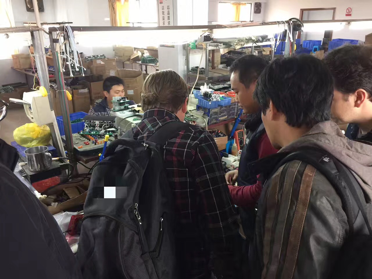 South Amrican customer visited our factory
