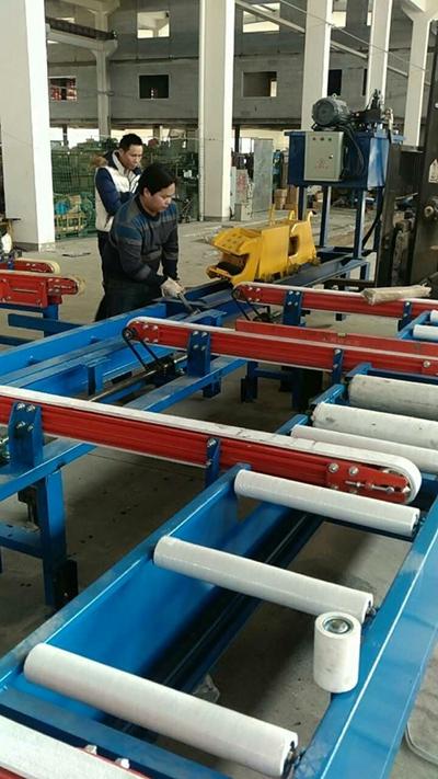 installing aluminium handling system for Russian customer