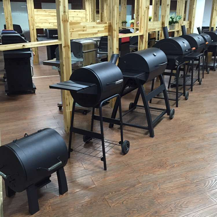 charcoal bbq smoker grill show room