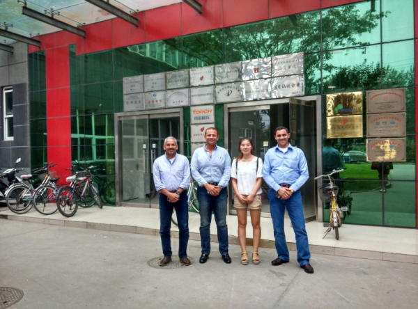 Egypt Customer Visited LED PCB Assemble Line in 2014 !
