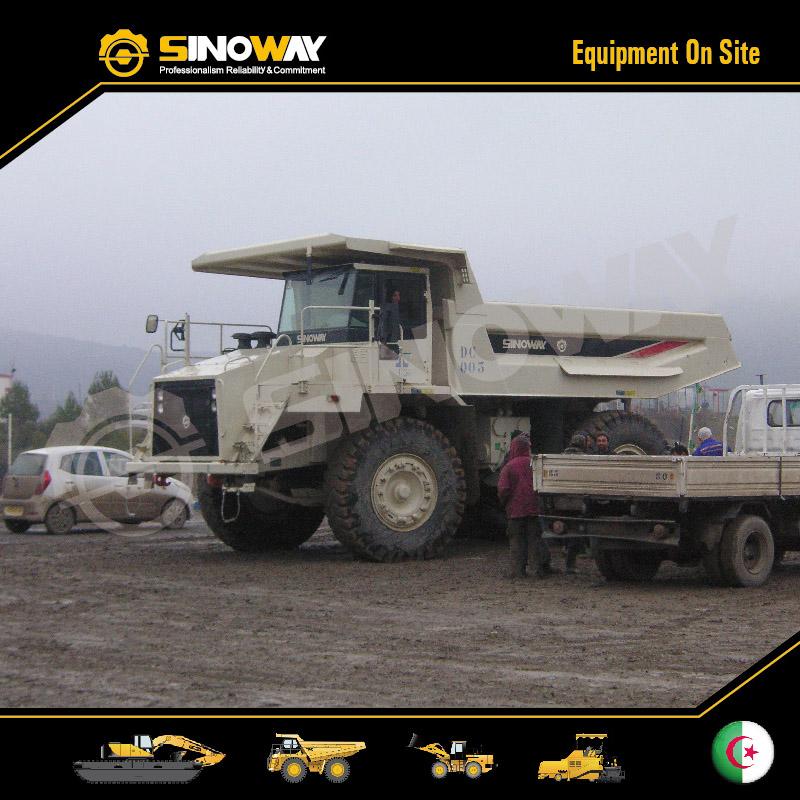 Rigid Dump Truck SWORT500R Working in North Afirca