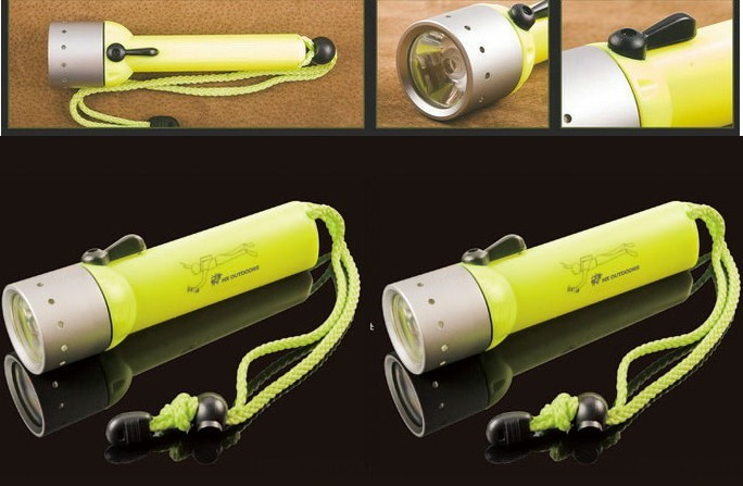 30 Meters Magnetic Switch Control Diving Flashlight Item# S242-Q3 LED Diving Flashlight