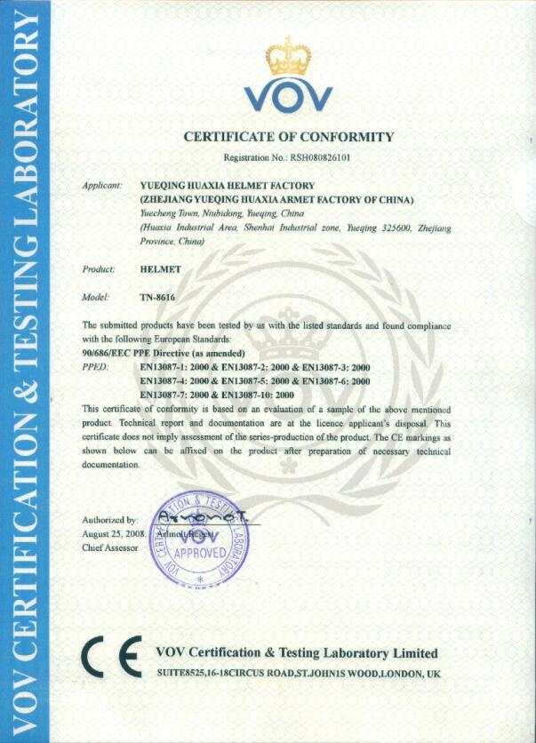 ce certificate for 8616