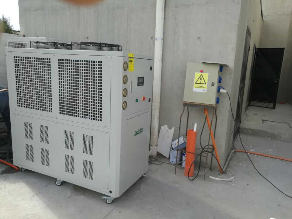 15HP industrial air cooled water chiller in Singapore govement water treatment project