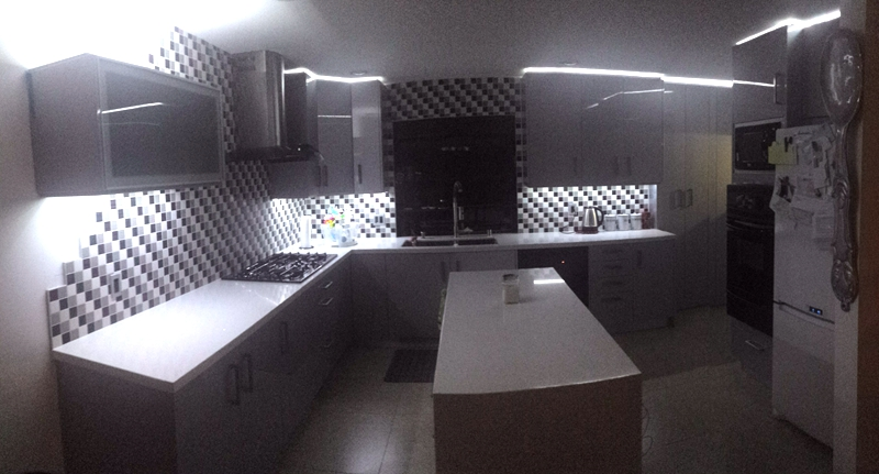 kitchen cabinet project for client from America