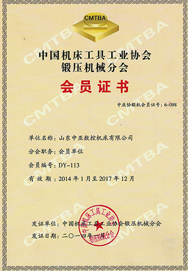 Member of China Machine Tools & Tool Builders' Association
