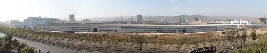 Distant view of factory