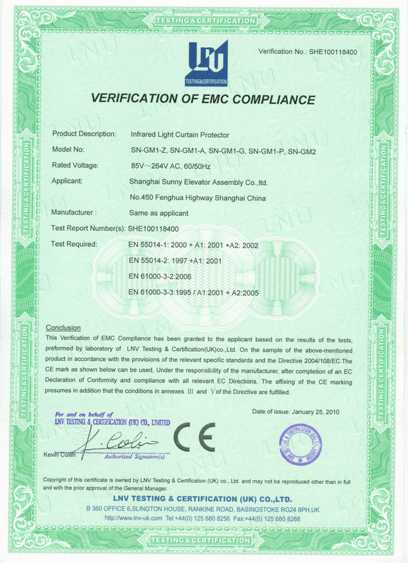 Verification of EMC compliance