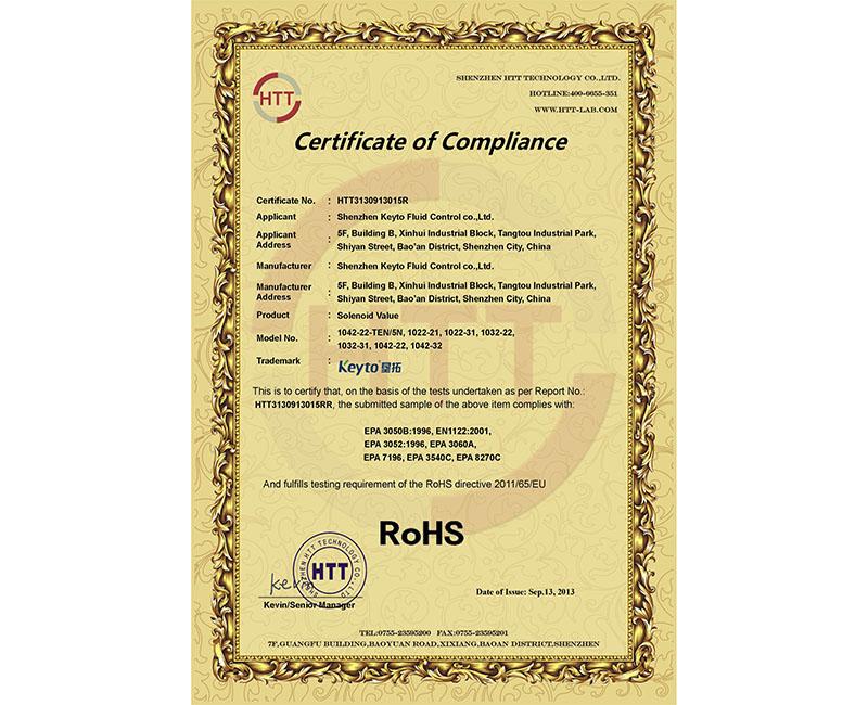 RoHS-Solenoid valve