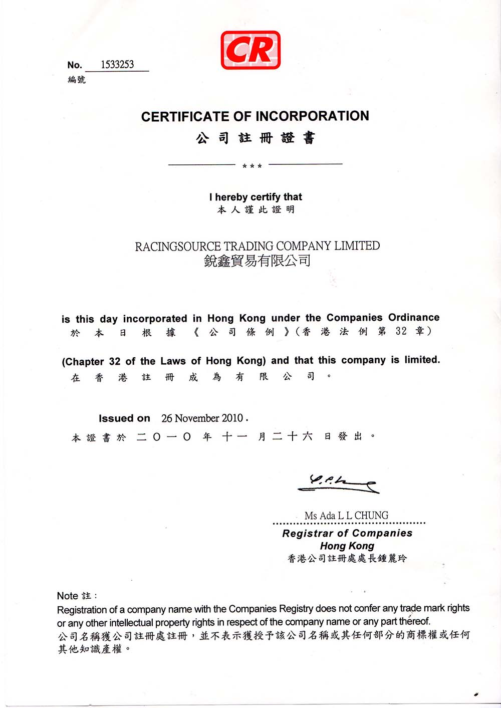 company Business License