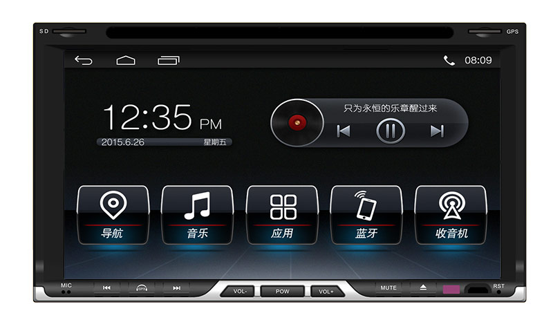 New Android 4.4 Universal Double DIN DVD Gps Navigation