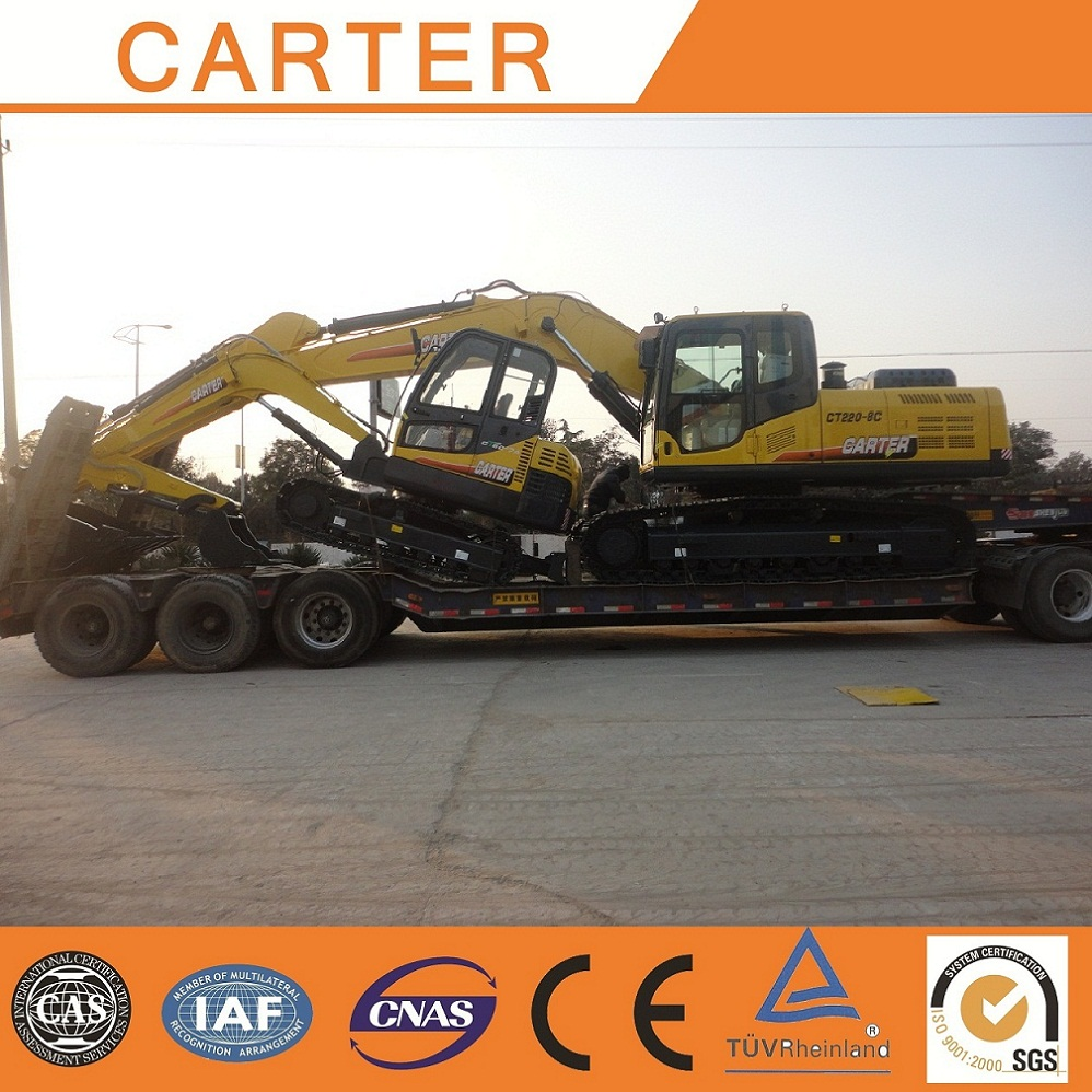 Brazil--1 unit 4.5t excavator with 1 unit 22t heavy duty excavator