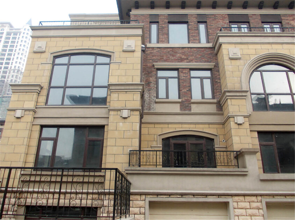 Perfect Solid Wood Aluminum Arched/Casement Windows