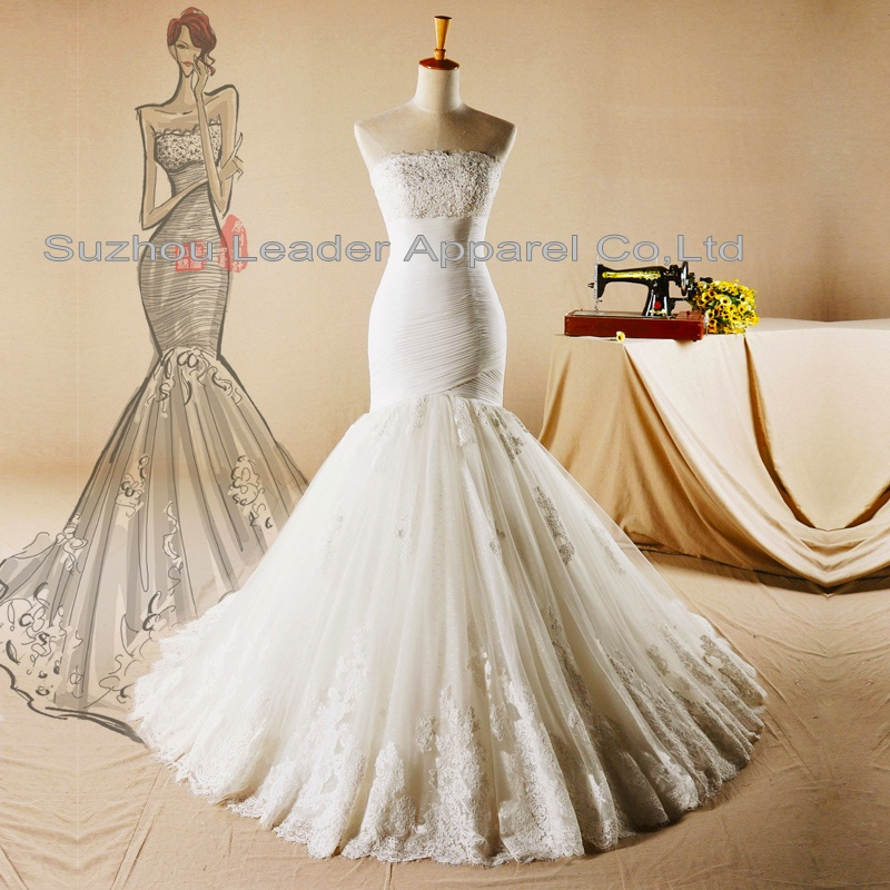 Customized bridal wedding dresses from pictures sketches for Wedding dresses in china