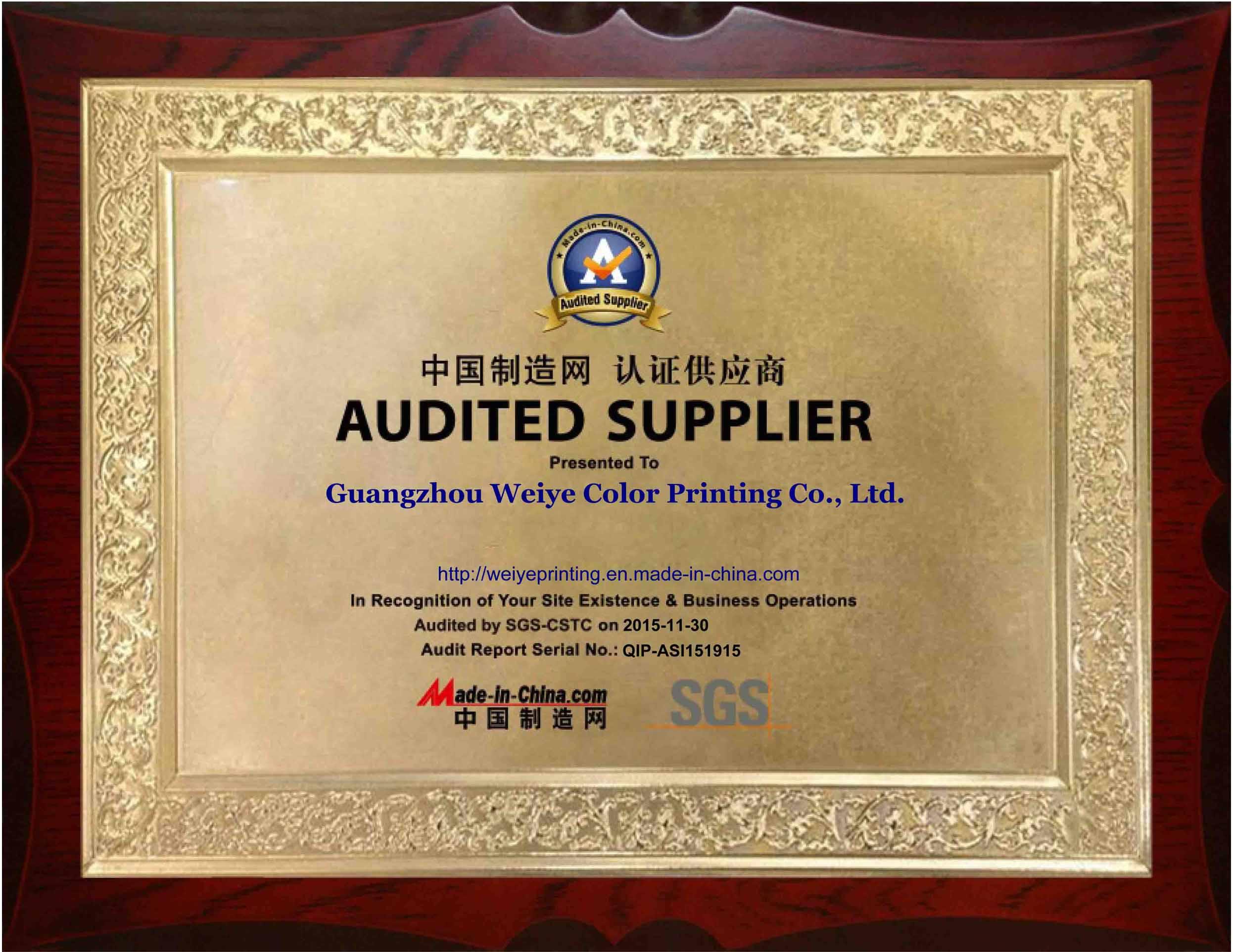 SGS-Audited Supplier-Manufacturer