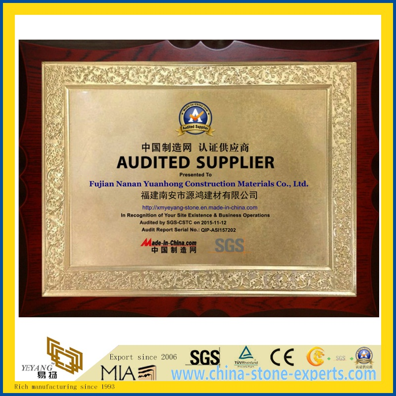 NEW Gold Member of YEYANG Stone Factory has been Audited by SGS