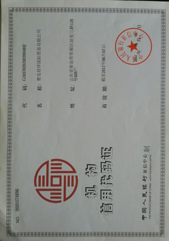 Bank credit certificate