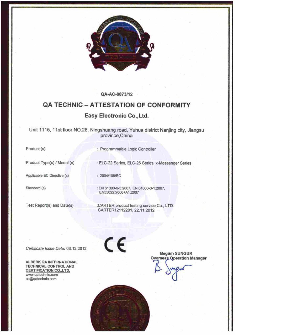 CE, ROHS Certificate