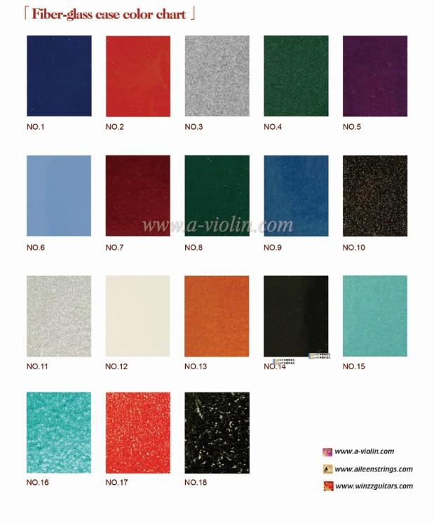 Fiberglass Case Color Chart