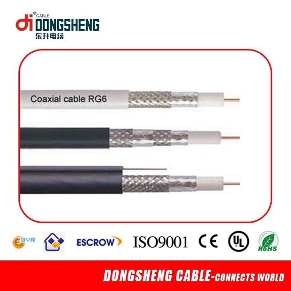 RG6 Coaxial Cable/Satellite TV Cable RG6 with UL ETL CE RoHS
