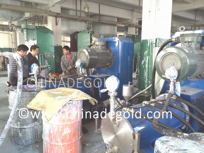 200litre horizontal disc bead mills at Degold parter's site
