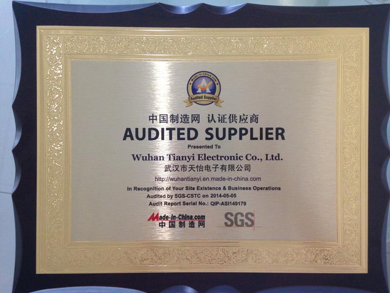 SGS audited Certificate