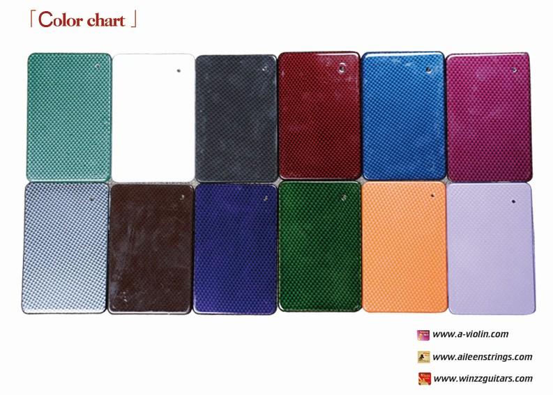 High Grade Fibre Case Color Chart